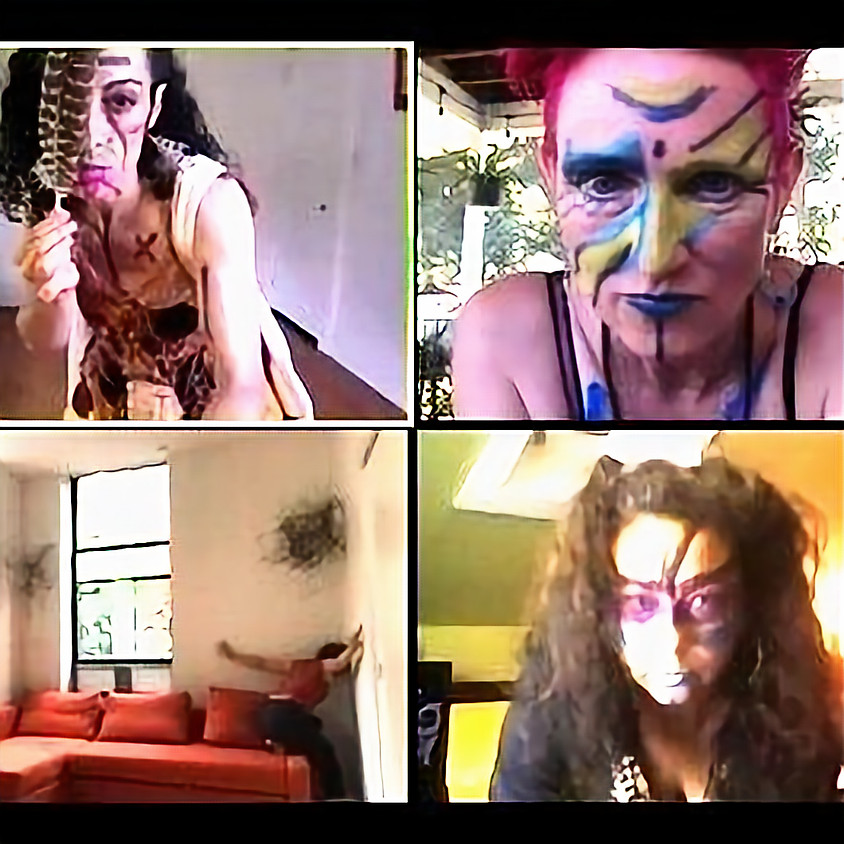 Strange Temple Witchual: Dance/Makeup/Play   Laura V Ward/Ophra Wolf