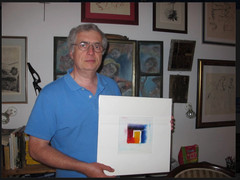 Laszlo from Hungary and his painting
