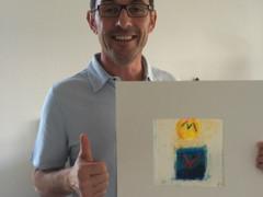 Herbert Husi got his painting by mega pleasure :)