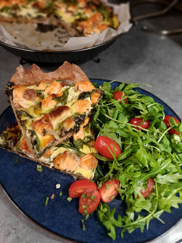 Tarte healthy saumon épinards 😋💪