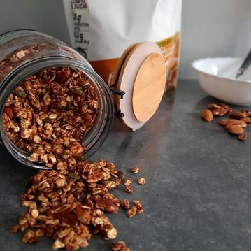 Mon granola protéiné au caramel 🤩💪