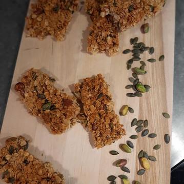 Barres de céréales graines de courge, pistaches et abricots secs 😋💪