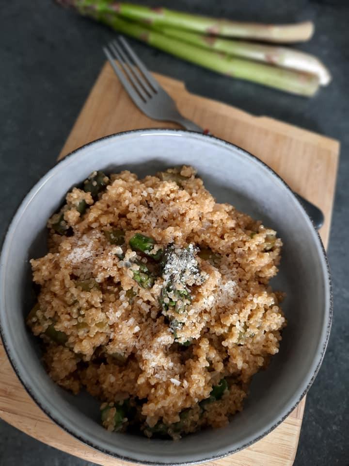 Quinoa, asperges