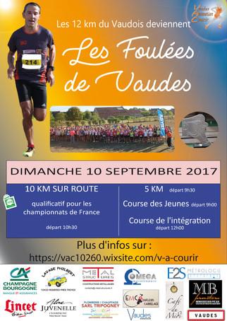 Dans 6 jours c'est le départ des Foulées de Vaudes !!!!