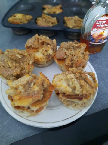 Muffins de pain perdu 💪😋