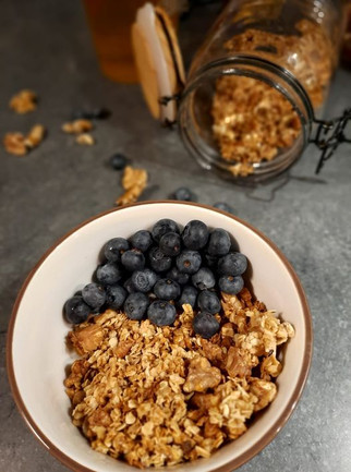 Granola healthy miel et noix 😍💪