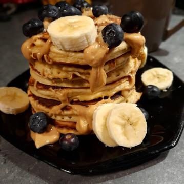 Pancakes au beurre de cacahuètes sans sucres ni matières grasses ajoutés💪😍
