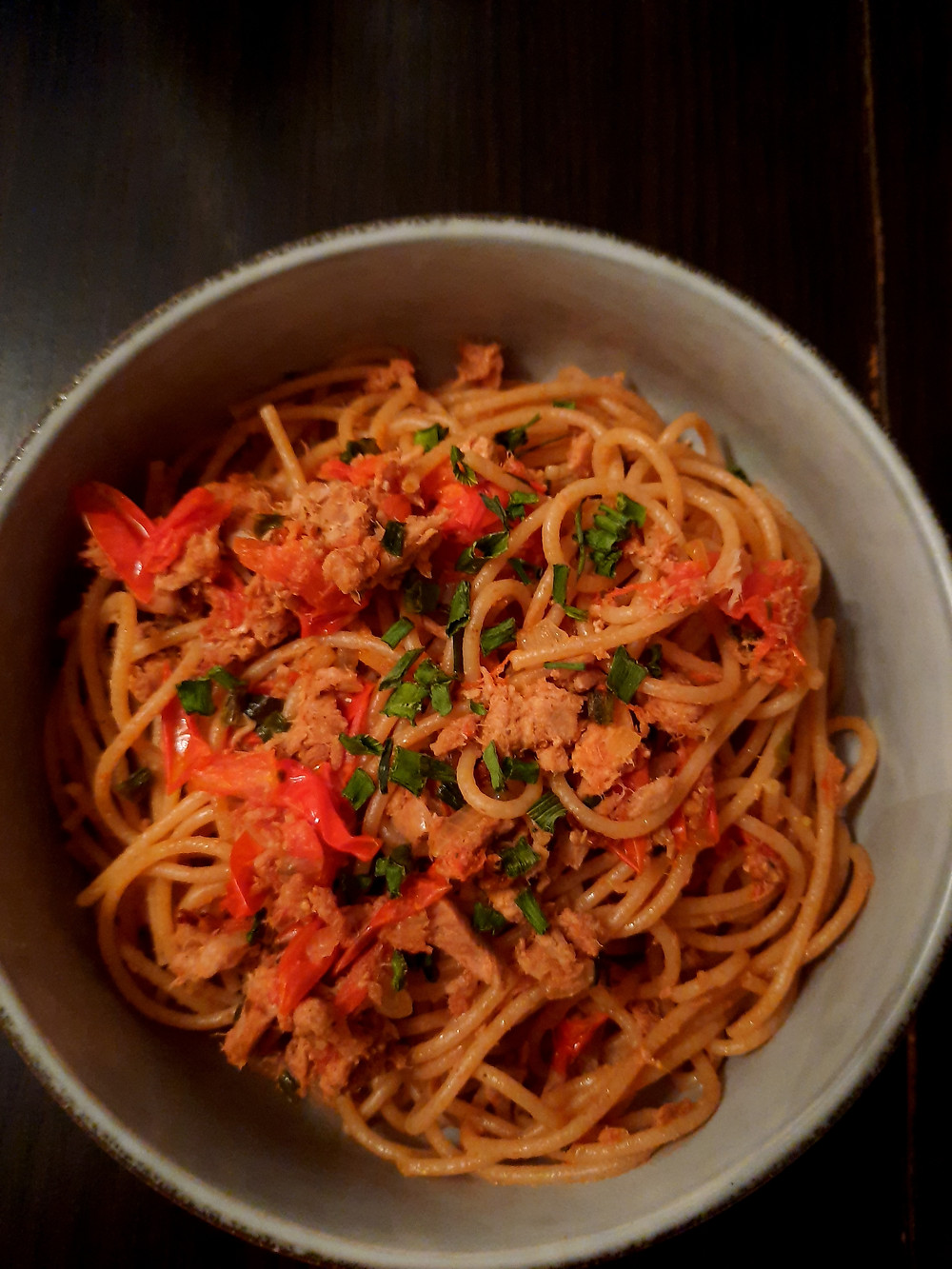 Linguines au thon et tomates cerise