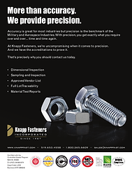 Knapp Fasteners Accuracy and Pecision
