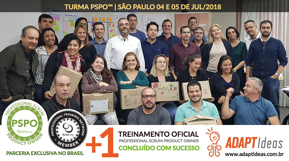 Treinamento Professional Scrum Product Owner - Scrum.org e Adaptideas
