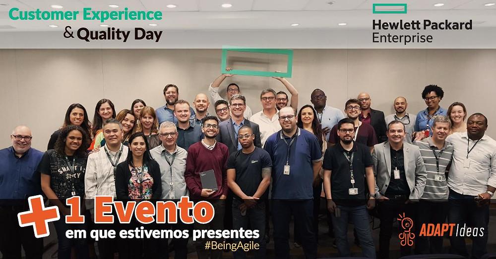 E no dia último dia 05/Dez/2019 nosso CEO - Fabiano Milani palestrou na Hewlett Packard Enterprise no Evento Customer Experience & Quality Day em Alphaville. Agradecemos o convite e a receptividade dos anfitriões e convidados. Aproveitamos para parabenizar ao Laurent Delache - CEO da Sitel  pela palestra e também pelos resultados apresentados, uma verdadeira  demonstração de liderança colaborativa e aplicabilidade do Management  3.0 e humanização do trabalho.