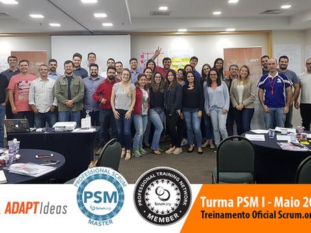 09 e 10/Maio Realizamos mais uma turma do treinamento PSM I em SP
