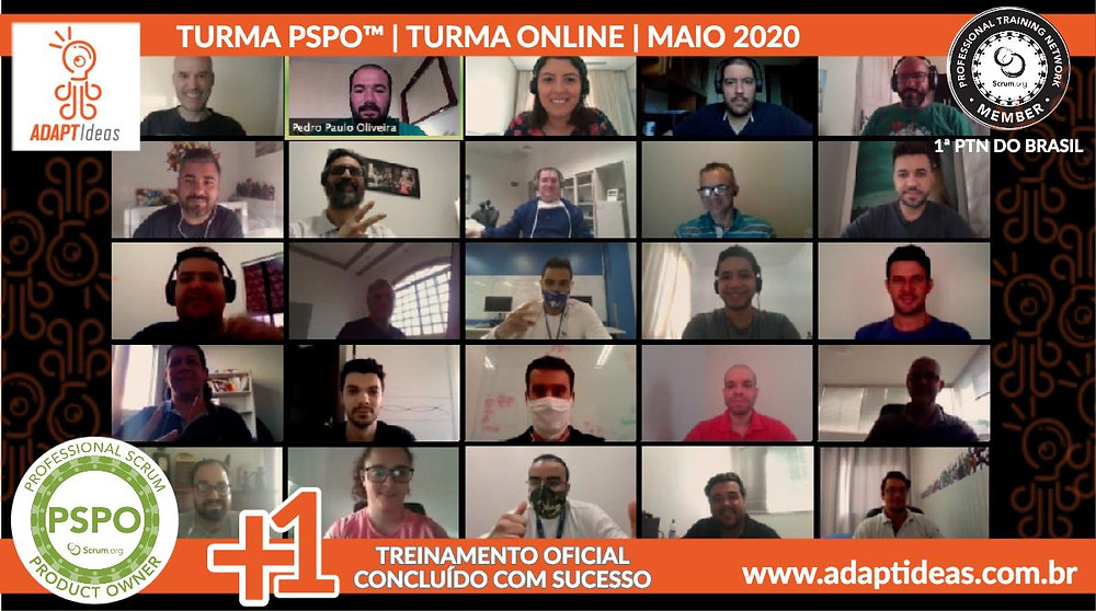 Treinamento Professional Scrum Product Owner™ | Scrum.org na ADAPTIdeas | Maio 2020