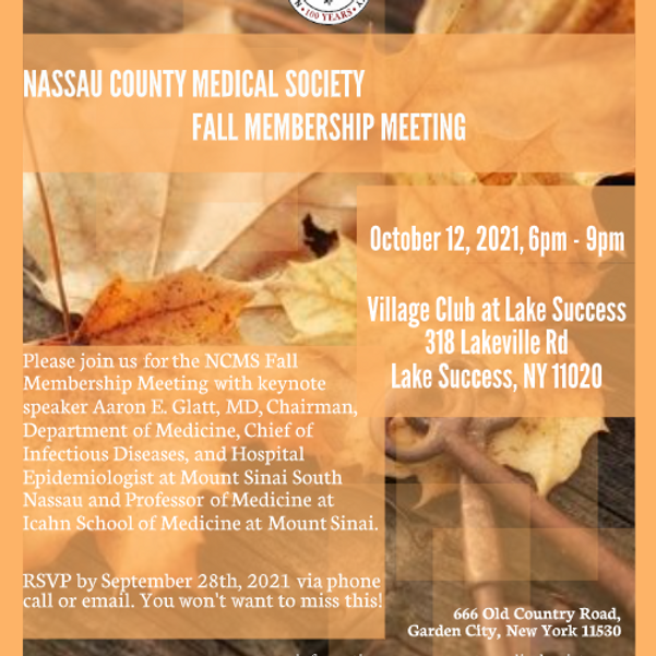 Nassau County Medical Society Fall Membership Meeting