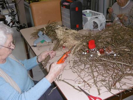 Les résidents préparent les fêtes de fin d'année !