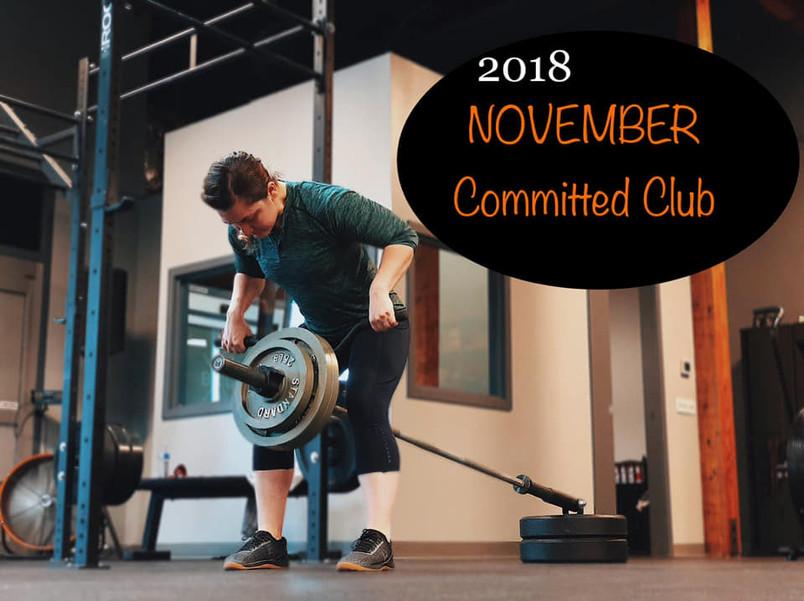 2018 November Committed Club