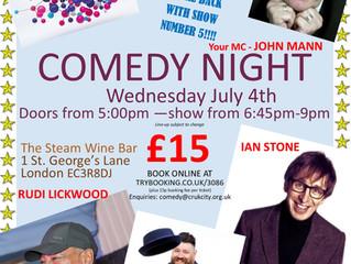COMEDY NIGHT - JULY 4th