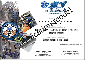 Light urban search and rescue course