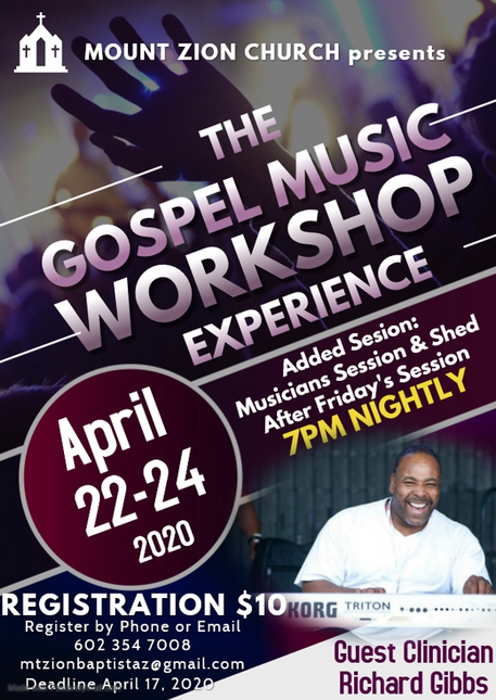 Mt. Zion Gospel Music Workshop(Postponed)