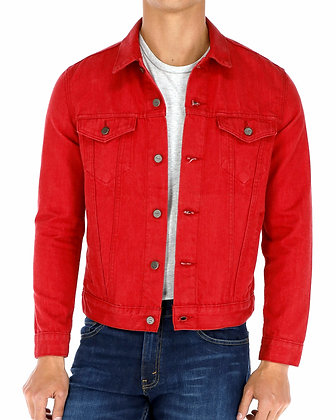 TMJ00919 ROCKER JACKET RED VELVET