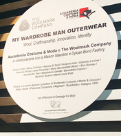"""MY WARDROBE MAN OUTERWEAR TO INNOVATE WOOL CRAFTMANSHIP""       IN COLLABORAZIONE CON:"