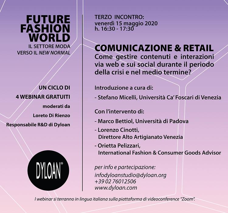 webinar FUTURE FASHION WORLD COMUNICAZIO