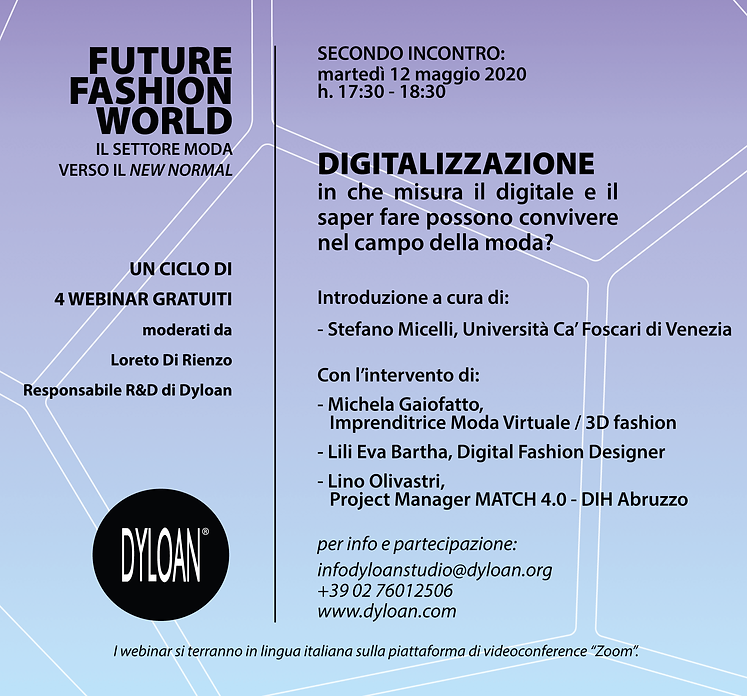 webinar FUTURE FASHION WORLD DIGITALIZZA