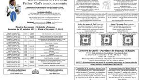Annonces-Announcements - 2021-10-17