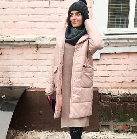Куртка пальто Mimichu пудра