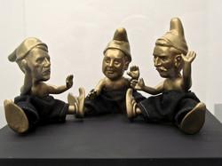 _Despotes de jardins_, bronze et feutre, 12 cm, 2009, 1_7_