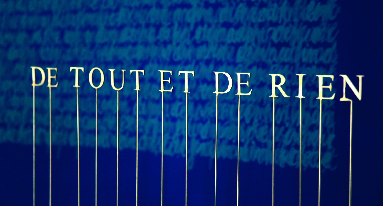 De Tout de Rien, stainless steel, laser cutting, 44 x 49 cm, 2 on 7, 2009
