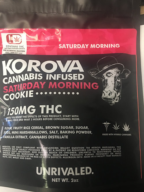 Korova 150mg Sat Morning Cookie