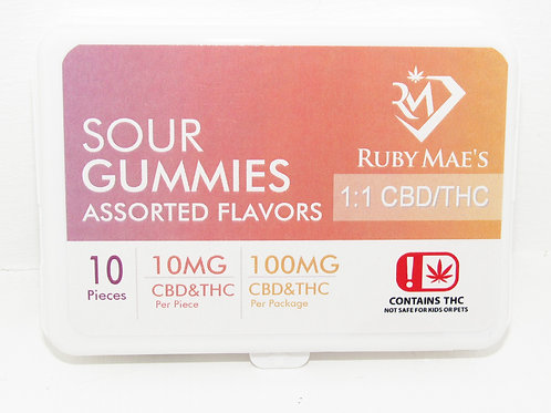 Ruby Maes 1:1 Sour gummies 100mg