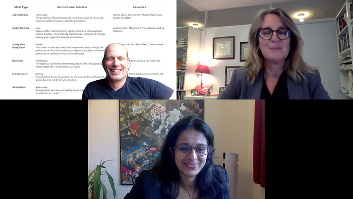 "Dan Brockington, Maha Rafi Atal and Lisa Ann Richy discuss ""Celebrity Troupes""."