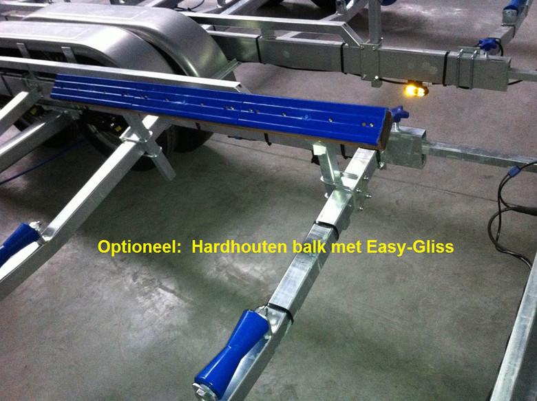 Hard wooden beam + easygliss per meter.j