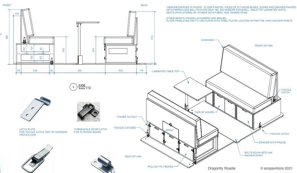 VW Camper Van Conversion Kit Schematics