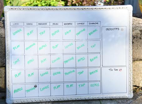 DIY - planning d'organisation de travail pour son cheval