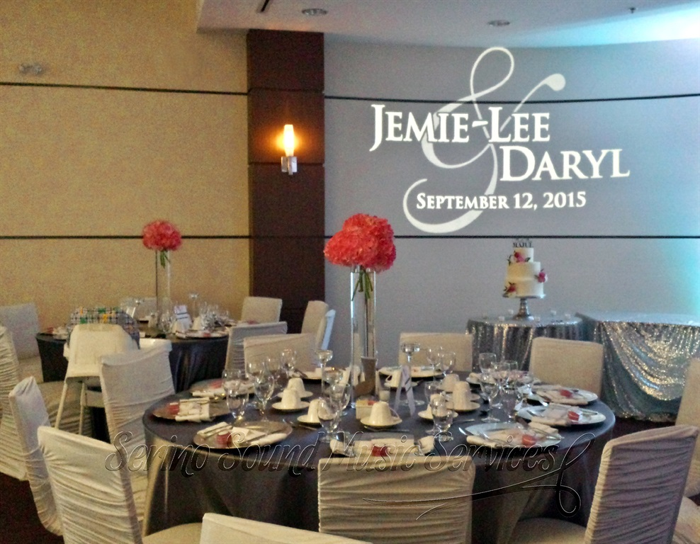 Wedding cake table monogram gobo