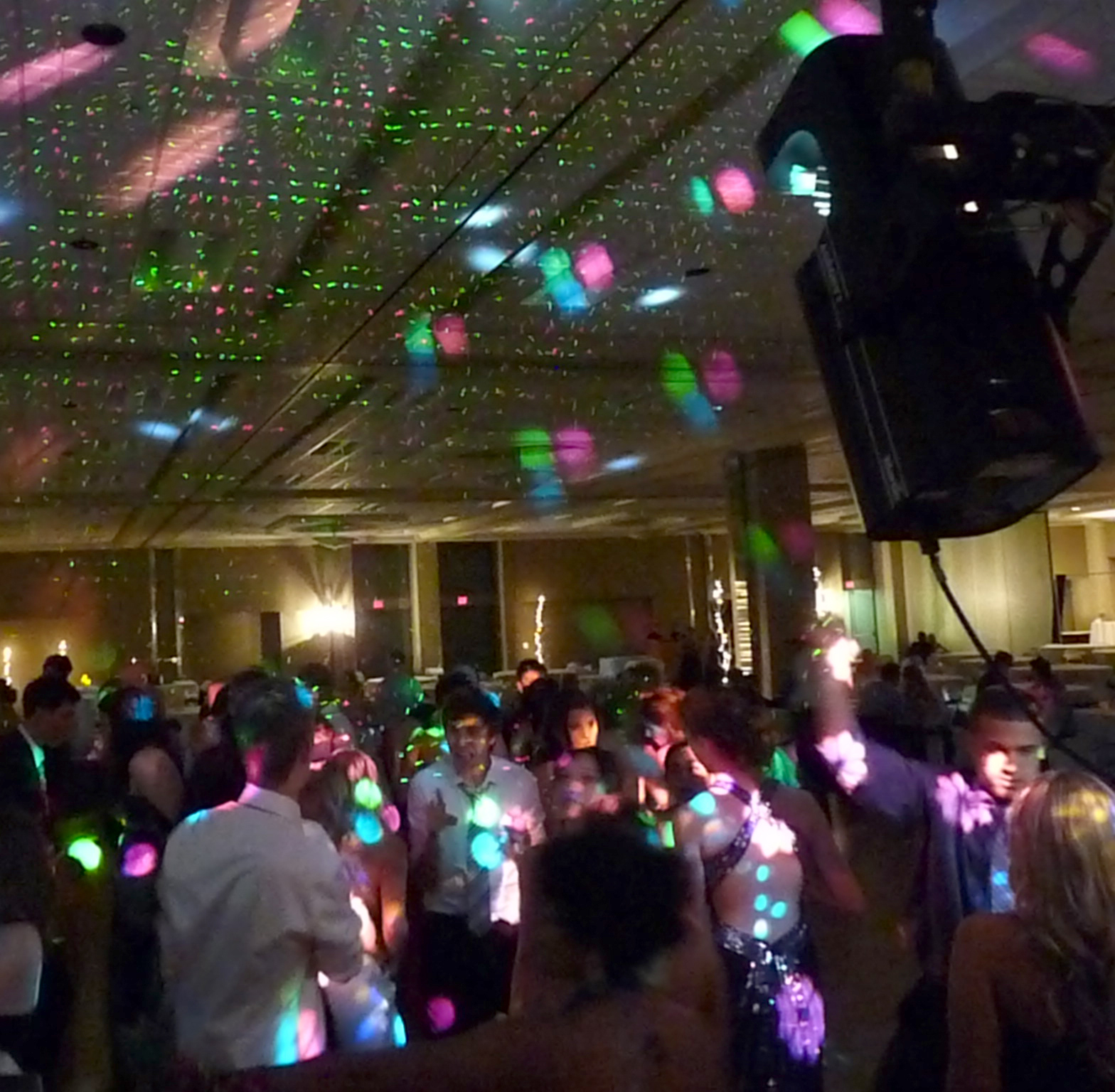 Ceiling and dance floor lighting
