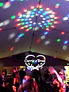 American DJ Rvo on ceiling at wedding social