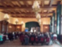 Hotel Fort Garry Concert Ballroom wedding ceremony on stage