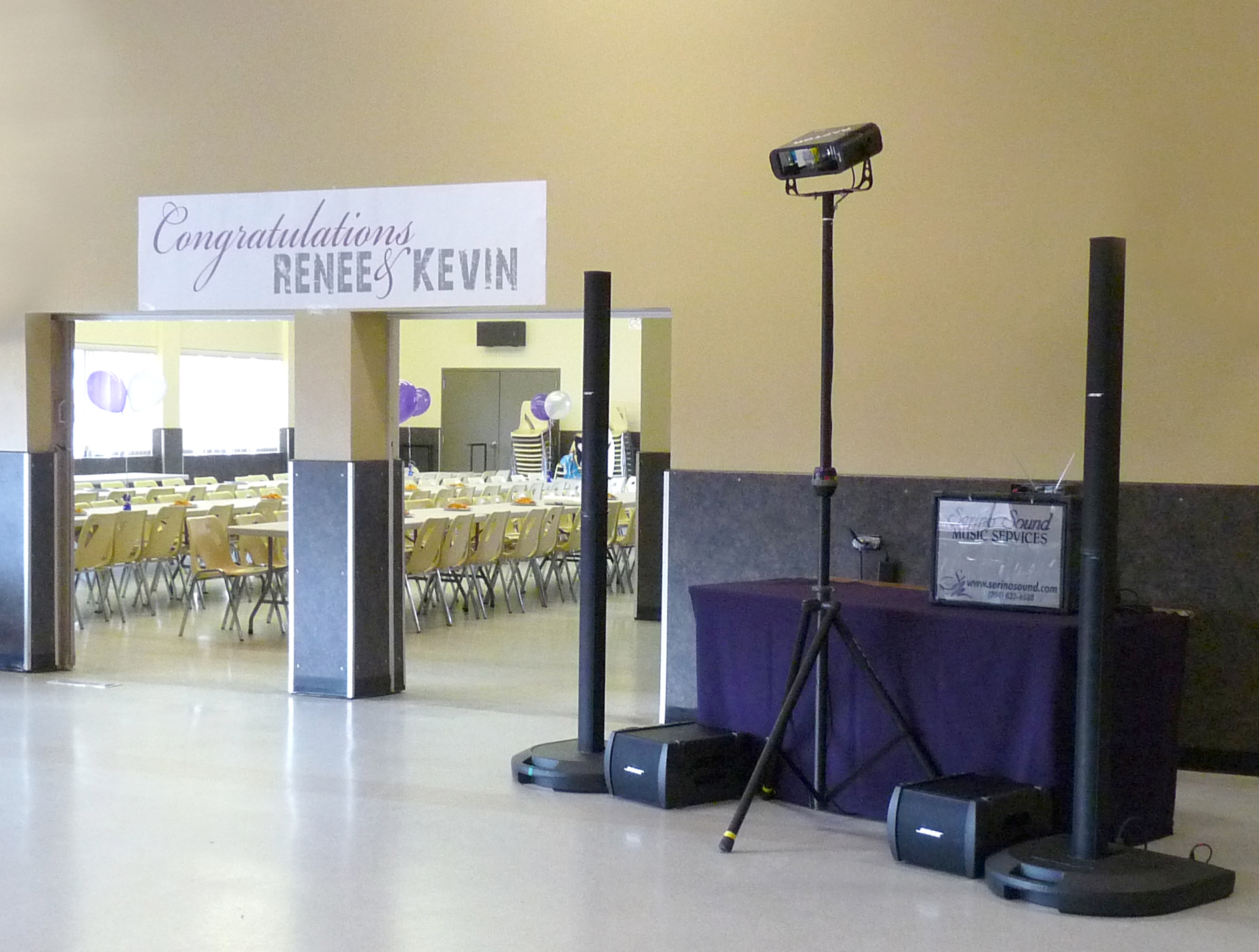 Setup at Norwood Community Centre