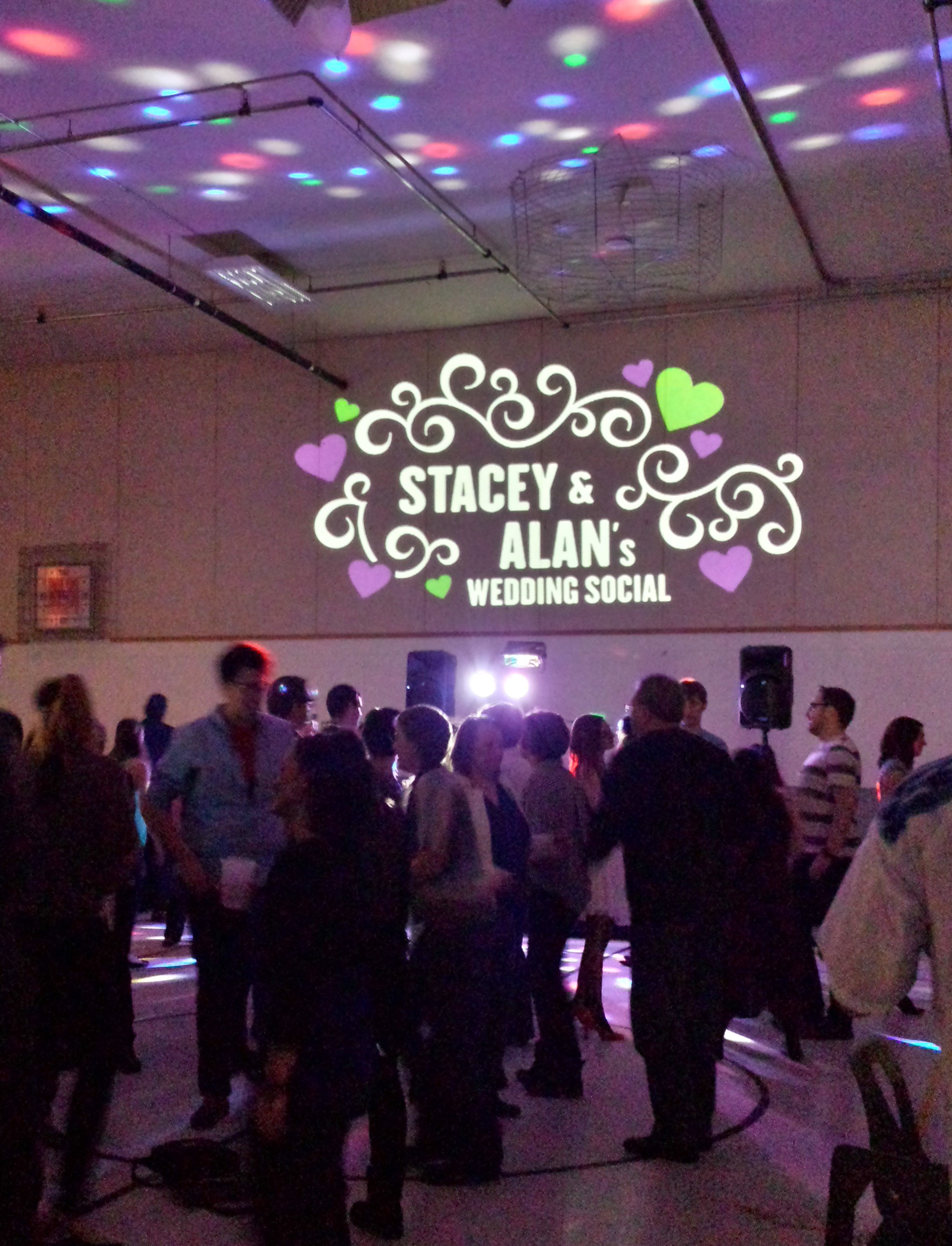 Wedding Social Banner In Lights