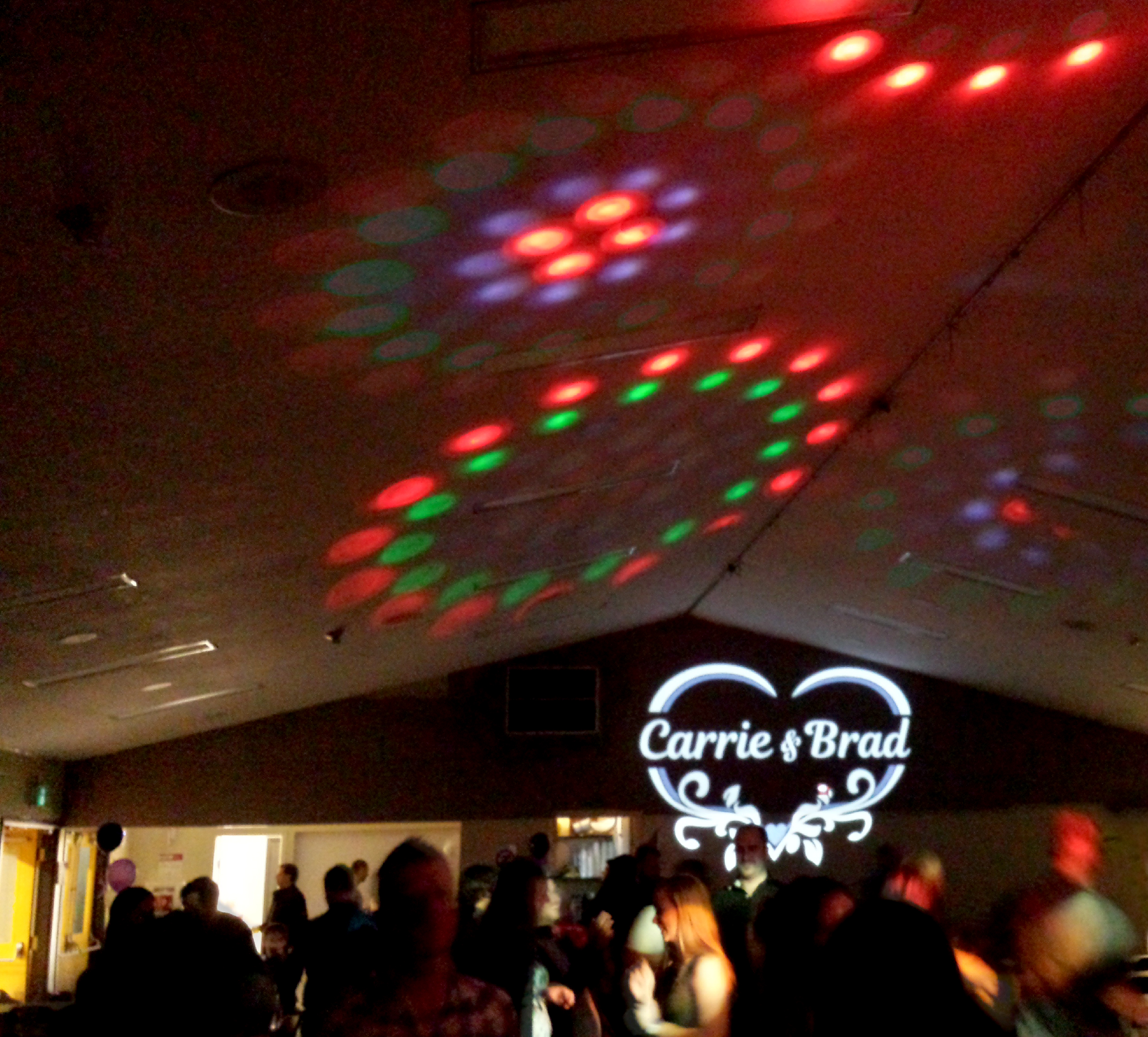 Fun wedding social light show