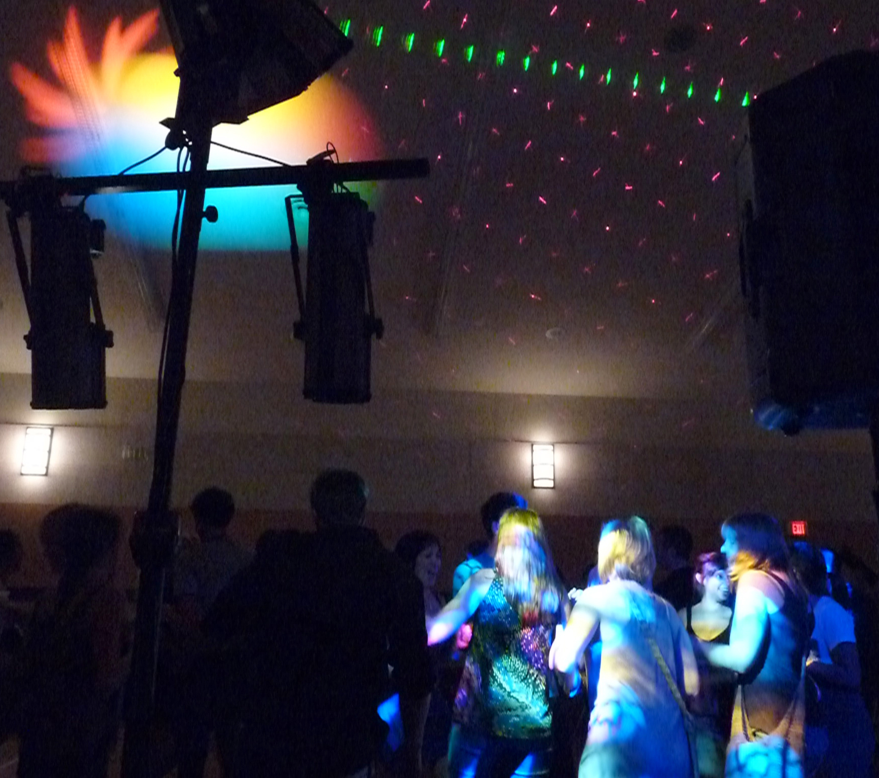 Crowd dancing at a Wedding Social