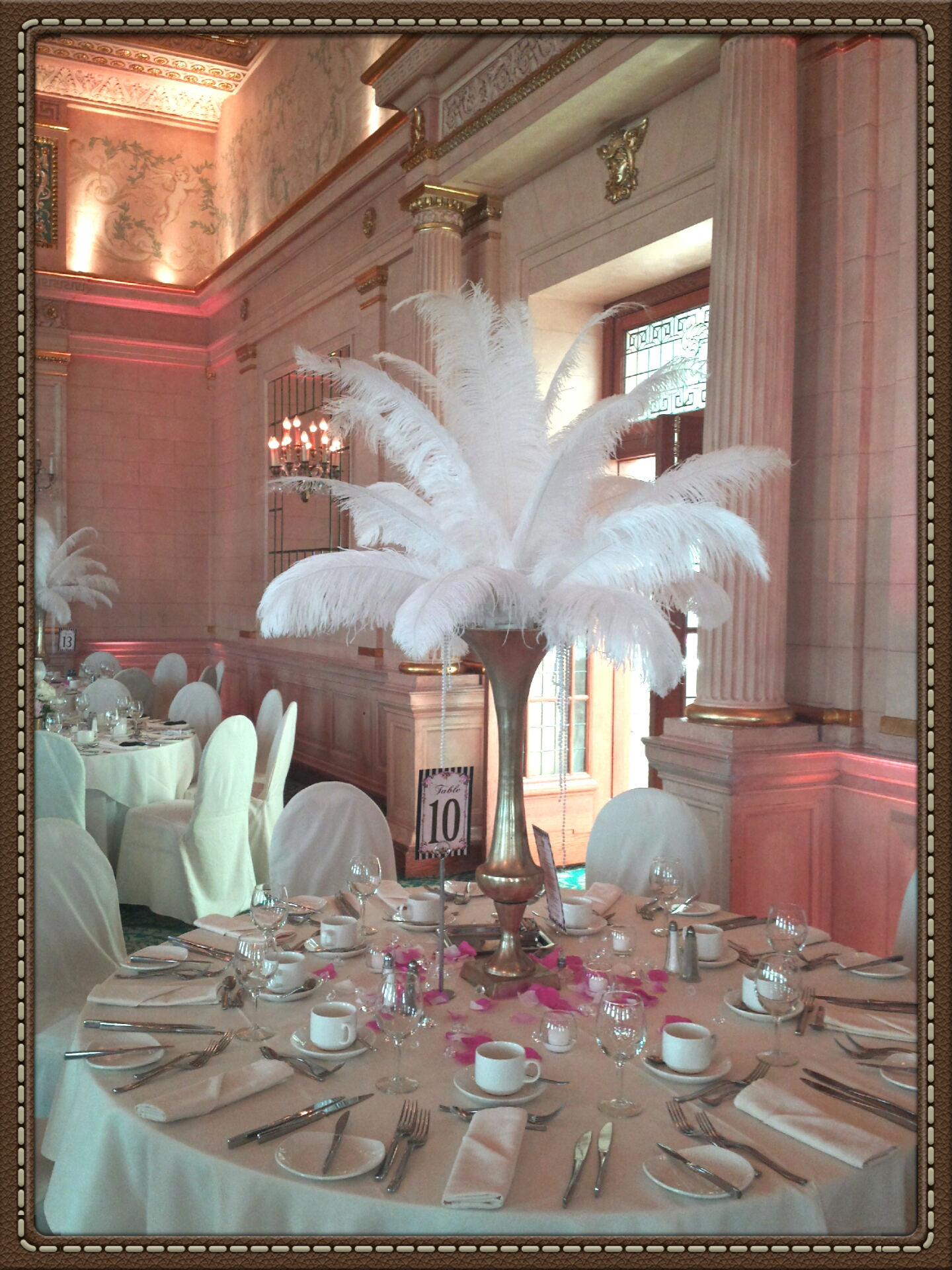 Fort Garry Hotel Crystal blush uplighting