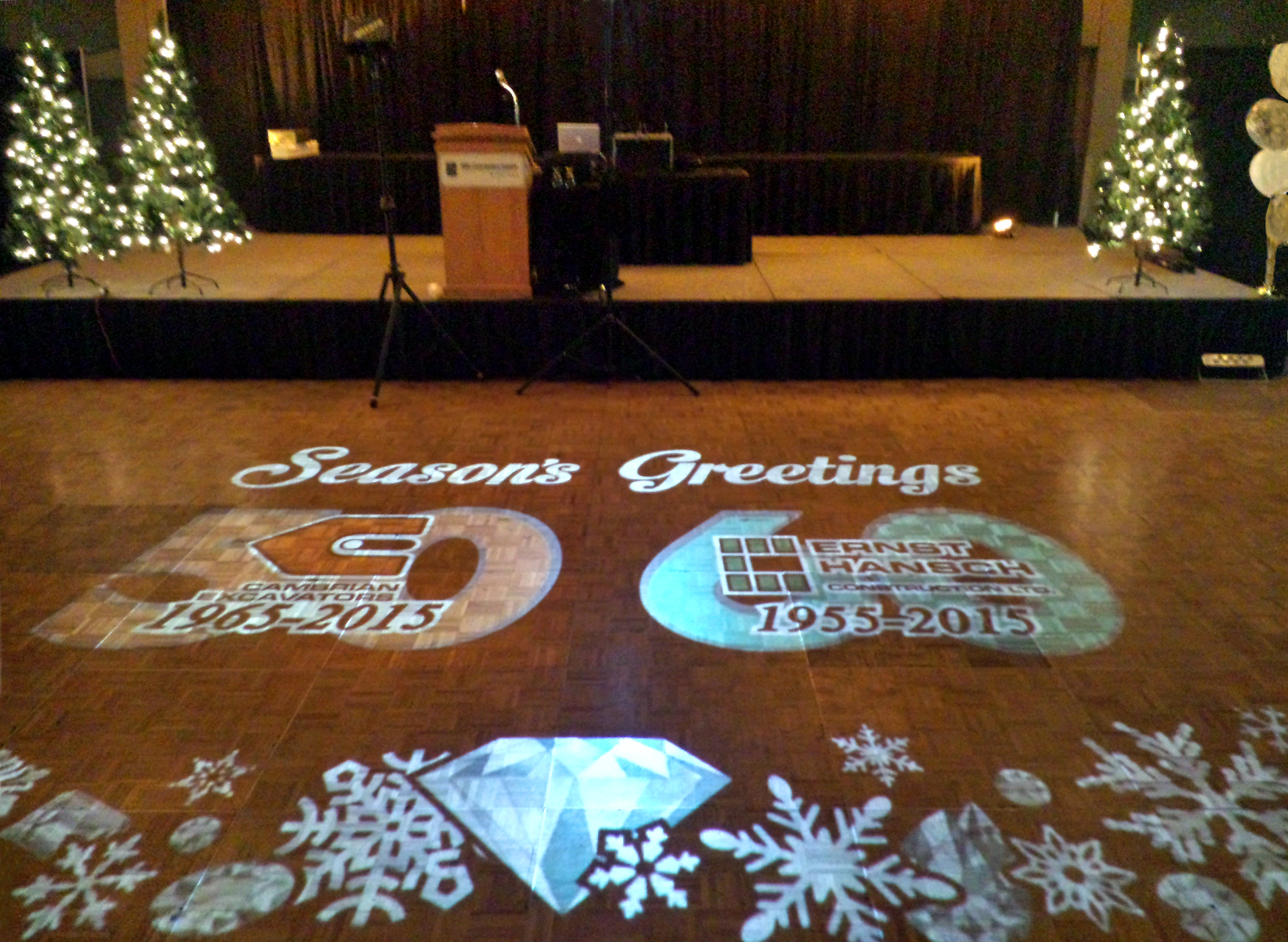Corporate holiday-themed gobo