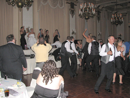 Dancing on the head table
