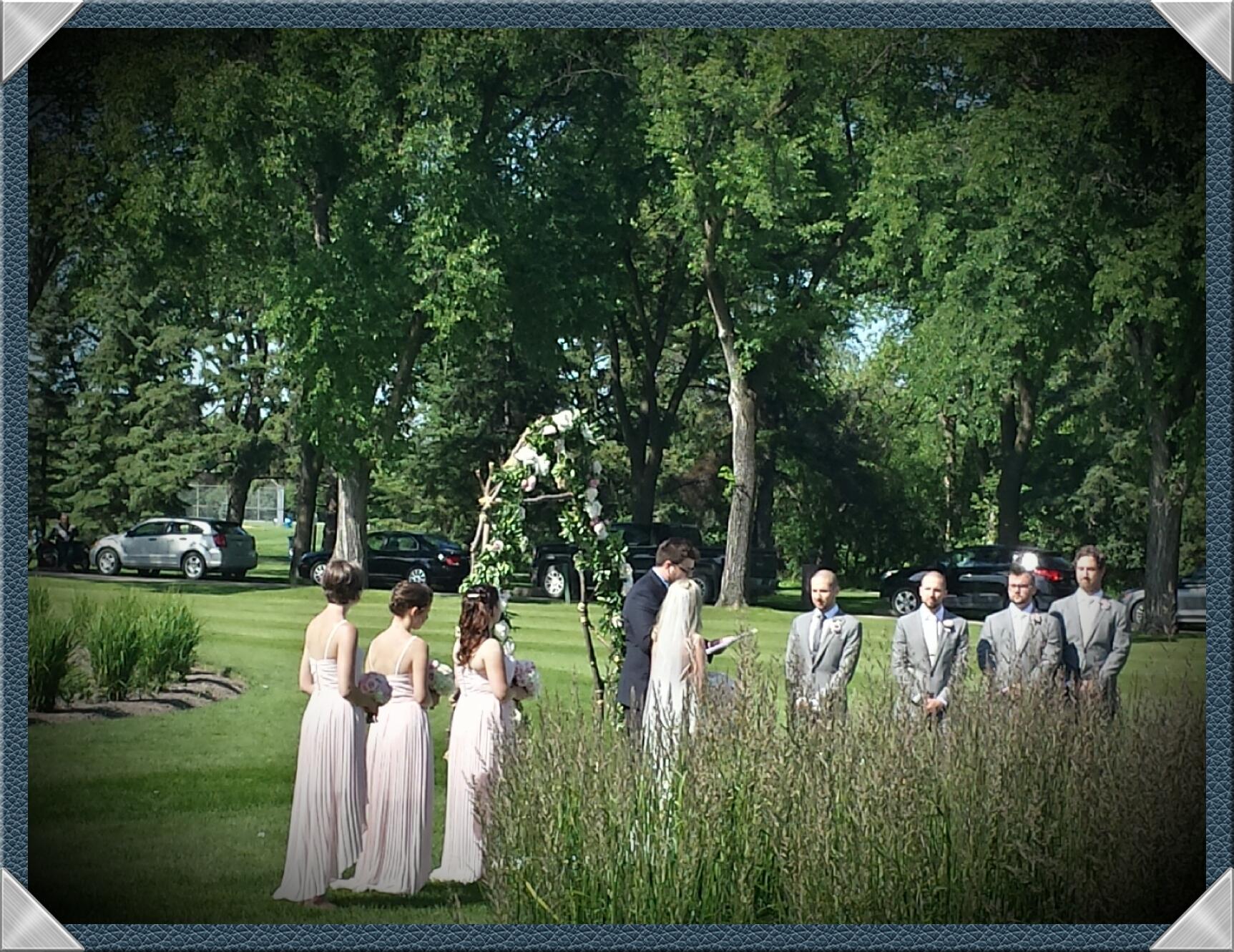 Formal Garden wedding ceremony