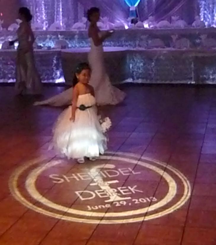 Flower Girl on dance floor monogram